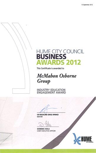 Hume Business Award